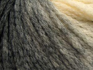 Fiber Content 64% Acrylic, 23% Wool, 13% Polyamide, Brand Ice Yarns, Grey, Cream, Black, fnt2-69517