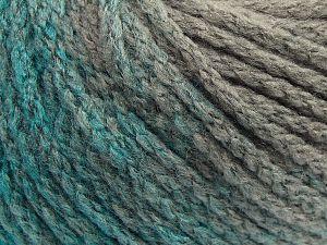 Fiber Content 64% Acrylic, 23% Wool, 13% Polyamide, Brand Ice Yarns, Grey, Emerald Green, fnt2-69518