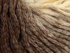 Fiber Content 64% Acrylic, 23% Wool, 13% Polyamide, Brand Ice Yarns, Cream, Brown Shades, fnt2-69519