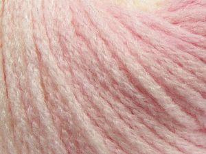 Fiber Content 64% Acrylic, 23% Wool, 13% Polyamide, White, Light Pink, Brand Ice Yarns, fnt2-69521