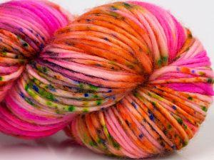 Fiber Content 100% Superwash Merino Wool, Rainbow, Pink, Brand Ice Yarns, fnt2-69526