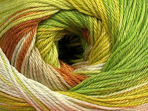 Fiber Content 100% Mercerised Cotton, Brand Ice Yarns, Green Shades, Caramel, fnt2-69529