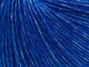 Fiber Content 66% Merino Wool, 34% Organic Cotton, Saxe Blue, Brand Ice Yarns, fnt2-69533