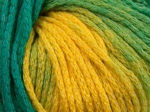 Fiber Content 64% Acrylic, 23% Wool, 13% Polyamide, Yellow Shades, Brand Ice Yarns, Green Shades, fnt2-69539