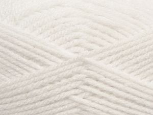 Worsted Fiber Content 100% Acrylic, White, Brand Ice Yarns, fnt2-69540