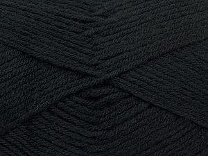 Cold Rinse. Short spin. Do not wring. Do not iron. Dry cleanable. Do not bleach. İçerik 50% Akrilik, 50% Polyamid, Brand Ice Yarns, Black, fnt2-69543