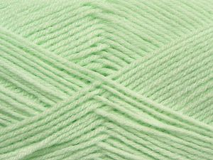 Cold Rinse. Short spin. Do not wring. Do not iron. Dry cleanable. Do not bleach. İçerik 50% Polyamid, 50% Akrilik, Light Mint Green, Brand Ice Yarns, fnt2-69550