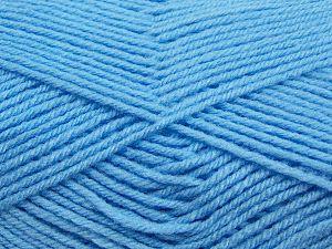 Cold Rinse. Short spin. Do not wring. Do not iron. Dry cleanable. Do not bleach. İçerik 50% Polyamid, 50% Akrilik, Light Blue, Brand Ice Yarns, fnt2-69553