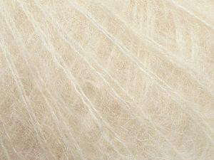 Fiber Content 50% Kid Mohair, 50% Polyamide, Brand Ice Yarns, Ecru, fnt2-69570