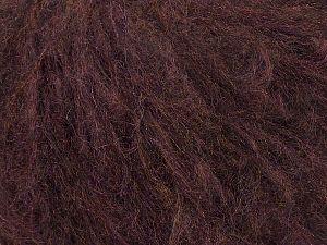 Fiber Content 45% Acrylic, 25% Wool, 20% Mohair, 10% Polyamide, Brand Ice Yarns, Dark Maroon, fnt2-69577