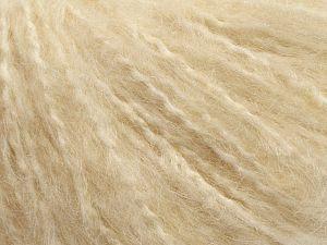 Fiber Content 45% Acrylic, 25% Wool, 20% Mohair, 10% Polyamide, Light Cream, Brand Ice Yarns, fnt2-69579