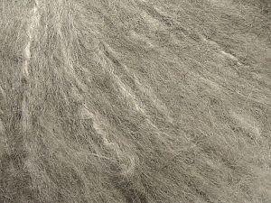 Fiber Content 45% Acrylic, 25% Wool, 20% Mohair, 10% Polyamide, Light Grey, Brand Ice Yarns, fnt2-69580