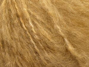 Fiber Content 45% Acrylic, 25% Wool, 20% Mohair, 10% Polyamide, Milky Brown, Brand Ice Yarns, fnt2-69581