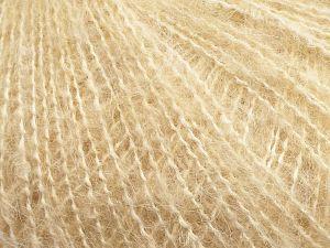 Fiber Content 55% Acrylic, 25% Wool, 10% Mohair, 10% Polyester, Brand Ice Yarns, Dark Cream, fnt2-69586