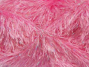 Fiber Content 80% Polyester, 20% Lurex, Light Pink, Brand Ice Yarns, fnt2-69731