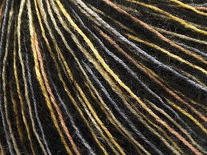 Fiber Content 69% Acrylic, 16% Wool, 14% Polyamide, 1% Elastan, Yellow, Brand Ice Yarns, Grey, Gold, Black, fnt2-69759