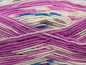 Fiber Content 75% Acrylic, 25% Wool, White, Orchid, Brand Ice Yarns, fnt2-69828