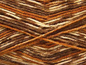 Fiber Content 75% Acrylic, 25% Wool, Brand Ice Yarns, Brown Shades, fnt2-69829