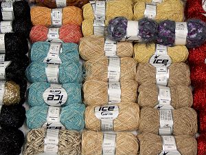 Metallic Yarns In this list; you see most recent 50 mixed lots. <br> To see all <a href=&/mixed_lots/o/4#list&>CLICK HERE</a> (Old ones have much better deals)<hr> Brand Ice Yarns, fnt2-69852