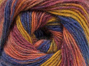 Fiber Content 60% Acrylic, 20% Angora, 20% Wool, Salmon, Olive Green, Maroon, Brand Ice Yarns, Blue, fnt2-69881