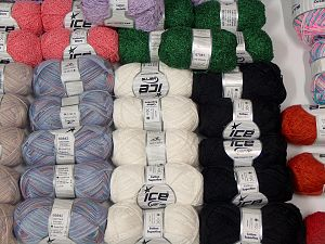 Luxury Yarns In this list; you see most recent 50 mixed lots. <br> To see all <a href=&/mixed_lots/o/4#list&>CLICK HERE</a> (Old ones have much better deals)<hr> Brand Ice Yarns, fnt2-69885