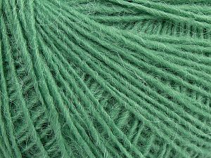 Fiber Content 60% Acrylic, 15% Wool, 15% Cotton, 10% Angora, Light Green, Brand Ice Yarns, fnt2-70057