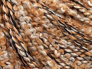 Fiber Content 75% Acrylic, 12% Nylon, 12% Polyester, Light Grey, Brand Ice Yarns, Gold, Black, fnt2-70069