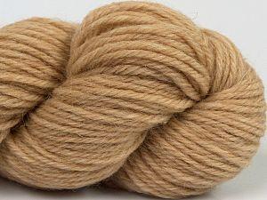 Fiber Content 55% Baby Alpaca, 45% Superwash Extrafine Merino Wool, Brand Ice Yarns, Dark Cream, fnt2-70100
