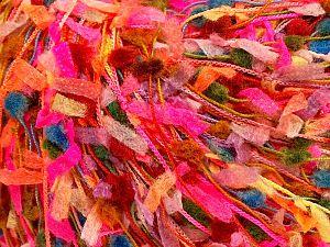 İçerik 75% Akrilik, 25% Kağıt, Yellow, Red, Neon Pink, Brand Ice Yarns, Green, fnt2-70108