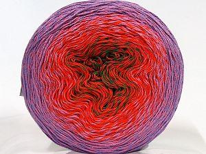 Fiber Content 55% Organic Cotton, 45% Antipilling Acrylic, Orange, Lilac, Light Pink, Brand Ice Yarns, Green, fnt2-70146