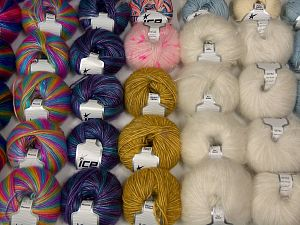 Luxury Yarns In this list; you see most recent 50 mixed lots. <br> To see all <a href=&/mixed_lots/o/4#list&>CLICK HERE</a> (Old ones have much better deals)<hr> Brand Ice Yarns, fnt2-70217