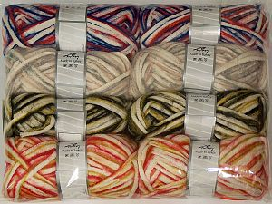 In this list; you see most recent 50 mixed lots. <br> To see all <a href=&/mixed_lots/o/4#list&>CLICK HERE</a> (Old ones have much better deals)<hr> Fiber Content 33% Cotton, 23% Acrylic, 22% Polyamide, 21% Wool, 1% Elastan, Brand Ice Yarns, fnt2-70262