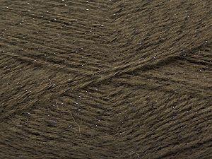 Fiber Content 75% Acrylic, 5% Lurex, 10% Wool, 10% Mohair, Brand Ice Yarns, Coffee Brown, fnt2-70384