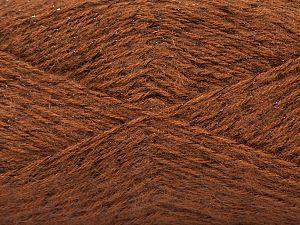 Fiber Content 75% Acrylic, 5% Lurex, 10% Wool, 10% Mohair, Light Brown, Brand Ice Yarns, fnt2-70385