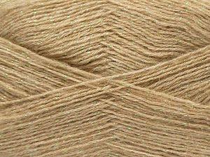 Fiber Content 75% Acrylic, 5% Lurex, 10% Wool, 10% Mohair, Iridescent, Brand Ice Yarns, Beige, fnt2-70390