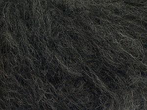 Fiber Content 45% Acrylic, 25% Wool, 20% Mohair, 10% Polyamide, Brand Ice Yarns, Dark Grey, fnt2-70408