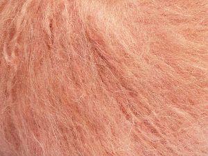 Fiber Content 45% Acrylic, 25% Wool, 20% Mohair, 10% Polyamide, Light Salmon, Brand Ice Yarns, fnt2-70410