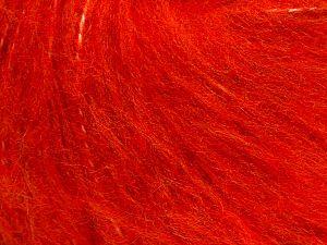 Fiber Content 45% Acrylic, 25% Wool, 20% Mohair, 10% Polyamide, Brand Ice Yarns, Dark Orange, fnt2-70411