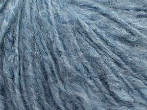 Fiber Content 45% Acrylic, 25% Wool, 20% Mohair, 10% Polyamide, Light Blue, Brand Ice Yarns, fnt2-70418