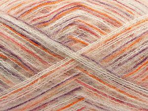 Fiber Content 73% Acrylic, 16% Wool, 10% Polyamide, 1% Elastan, Pink, Orange, Lilac, Brand Ice Yarns, Ecru, fnt2-70450