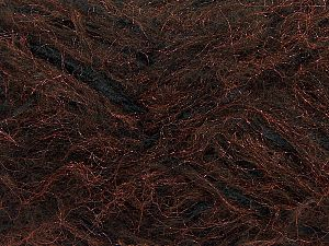 Fiber Content 8% Mohair, 40% Polyester, 30% Nylon, 12% Acrylic, 10% Wool, Brand Ice Yarns, Copper, Black, fnt2-70455