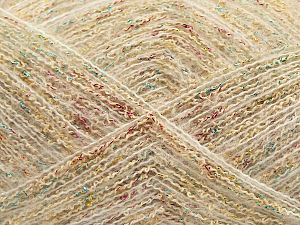 Fiber Content 6% Metallic Lurex, 6% Polyester, 40% Acrylic, 20% Cotton, 17% Wool, 10% Polyamide, 1% Elastan, Turquoise, Pink, Brand Ice Yarns, Gold, Cream, fnt2-70533
