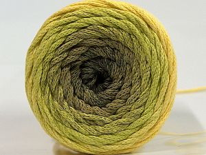 Please be advised that yarns are made of recycled cotton, and dye lot differences occur. Fiber Content 100% Cotton, Yellow, Brand Ice Yarns, Green Shades, Yarn Thickness 4 Medium Worsted, Afghan, Aran, fnt2-70670