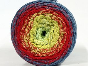 Please be advised that yarns are made of recycled cotton, and dye lot differences occur. Fiber Content 100% Cotton, Red, Jeans Blue, Brand Ice Yarns, Green Shades, Yarn Thickness 4 Medium Worsted, Afghan, Aran, fnt2-70672