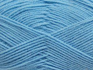 Fiber Content 50% Acrylic, 50% Polyamide, Light Blue, Brand Ice Yarns, fnt2-70794