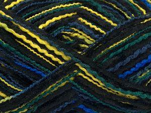 Fiber Content 50% Acrylic, 50% Micro Fiber, Yellow, Brand Ice Yarns, Green Shades, Blue Shades, Black, fnt2-70882