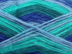 Fiber Content 100% Acrylic, Brand Ice Yarns, Green Shades, Blue Shades, fnt2-71059