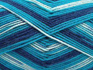 Fiber Content 100% Acrylic, Turquoise Shades, Brand Ice Yarns, fnt2-71072