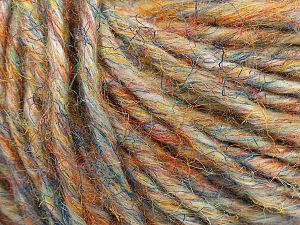 Fiber Content 40% Viscose, 40% Acrylic, 20% Cotton, Orange, Brand Ice Yarns, Grey, Green, Gold, Blue, fnt2-71096