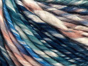 Fiber Content 80% Acrylic, 20% Nylon, Maroon, Brand Ice Yarns, Green, Ecru, Blue Shades, fnt2-71098